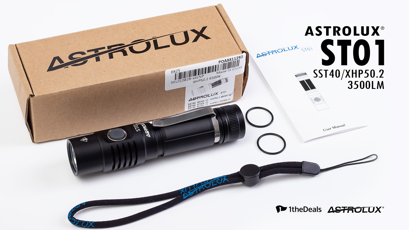 1theDeals Astrolux ST01 Flashlight